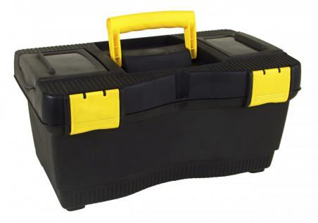 Werkzeugkoffer schwarz Werkzeug Koffer Werkzeugkasten Werkzeugbox Werkzeugkiste