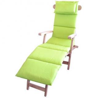 Polster-Auflage für Sonnenliege mit Kopfkissen Stuhlauflage Deckchair Liegestuhl