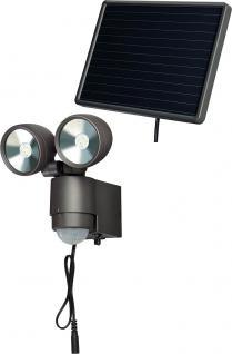 """brennenstuhl BREN Solar LED-Spot ,, SOL 2x4"""" 1 17093 0 Leuchte Sw Sol2x4"""