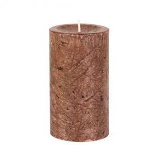 Diamond Candles Stumpenkerze mocca 70x120 mm Wachskerze Deko Wachs Kerze