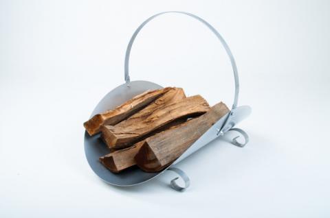 Kaminholzkorb aus Metall