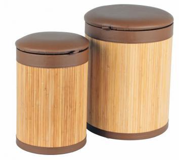 2er Sitz-Wäschetonnen Set Bambus
