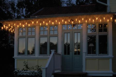 """SYSTEM Eiszapfen-Kette ,, Icicle Extra"""" Led Icic.25-tlg. Amber 465-60"""