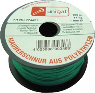 Uniqat M-SCHNUR Maurerschnur Polyae 100m 1mm Grue 8415/3