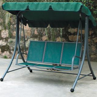 Hollywoodschaukel grün Gartenschaukel Schwingbank Gartenliege 3-Sitzer Schaukel
