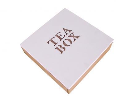 Holz-Teebox 9 Fächer Teabox Teebehälter Teekiste Teebeutelkiste Teekasten Neu