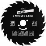 """Wolfcraft KRS-BLATT HM-Kreissägeblätter Serie ,, grün"""" 6373000 184 X16 22z Hm"""
