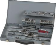 Uniqat GEWINDESCHNEIDSATZ Gewindeschneidzeugsatz Hss 43-tlg M3-m12