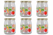6 Einmachgläser a 500 ml Sturzgläser Einweckglas Marmeladenglas Glas + Deckel