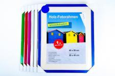 Holz-Fotorahmen Bilderrahmen 40x50 cm div. Farben