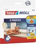 """Tesa Hohlprofilgummidichtung ,, tesamoll® Classic P-Profil"""" 5390-77 Moll Profil Gummi-6m-5390 Weiss"""