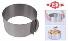 FISKO Edelstahl Tortenring Backform mit Skala 16-30 cm verstellbar stufenlos
