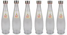 6x Glasflasche 1L mit Schraubdeckel Flasche Schraubverschluss Saft Most Flasche