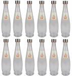 12x Glasflasche 1L mit Schraubdeckel Flasche Schraubverschluss Saft Most Flasche