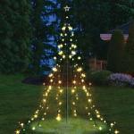 Garten Lichterpyramide mit 200 LEDs Lichterkette Beleuchtung LED Weihnachten