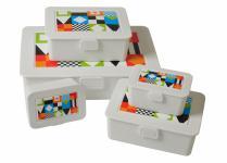 5er-Dosenset E&K Lunchboxen Snackboxen Brotdose Aufbewahrung Schule Picknick Box