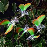 Solar LED-Lichterkette mit 10 Kolibris