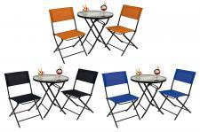 Bistro-Set 3tlg. verschiedene Farben