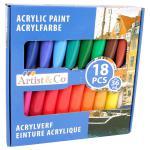 Artist & Co Acrylfarben 18-teilig Artico Farben malen Acryl Kunst Maler