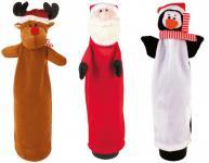 Plüsch Flaschendeko Elch Weihnachtsmann Pinguin Flaschendekoration Weihnachten