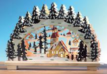 """LICHTERBOGEN Stimmungsleuchter ,, Schneelandschaft"""" 10flandschaft"""