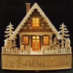 LED Weihnachtsholzhaus Advent Fensterdekoration Weihnachtsdeko Weihnachtskrippe