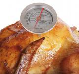 Edelstahl Küchen-Thermometer analog Bratenthermometer Fleisch Grillen Backofen