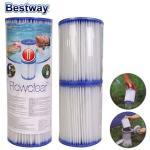 Bestway Pumpenfilter 2er Set Filterpumpe Sandfilter Poolreinigung Ersatz-Filterpatrone