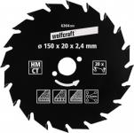 """Wolfcraft KRS-BLATT HM-Kreissägeblätter Serie ,, grün"""" 6367000 160 X16 20z Hm"""