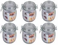 6x Drahtbügelglas 0, 5 L Eimachgläser Einweckglas Vorratsglas Marmeladengläser