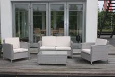 "Consul Garden ALU-LOUNGESET Aluminium-Polyrattan-Loungegarnitur ,, Orlando"" 55924 Orlando Silber"