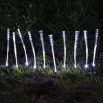 Solar Fiberglas Lichterkette Weiß