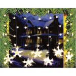 LED Lichtervorhang Sternenvorhang, 7 große und 32 kleine Sterne Lichterkette