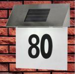 Solarhausnummer LED-Lampen Hausnummernbeleuchtung Solarleuchte Solarlicht 4xLED