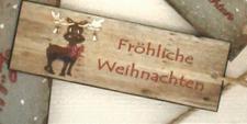 """ANHäNGER Dekoanhänger ,, Fröhliche Weihnachten"""" Elch Fr Weihnachten"""