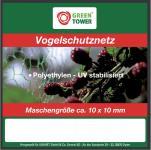 """Greentower GT Vogelschutznetz ,, Basic"""" 43520 Kirschbaum- Netz 8x8m 6mm"""