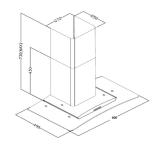 Glasschirmhaube Edelstahl Respekta CH 0160 IX Dunstabzugshaube LED Abzugshaube
