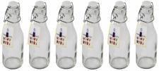 6 x Drahtbügelflasche 250 ml Glas Flasche Bügelflasche Bügelverschluß Saft Likör