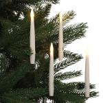 10 x LED-Kerzen 15 cm + Fernbedienung Flackerlicht Baumkerzen Gesteck Tischdeko