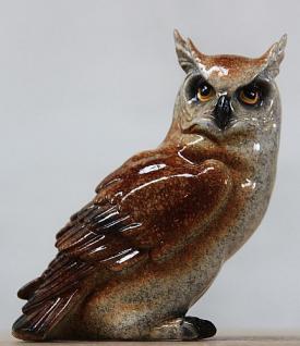Tierfigur Eule, Greifvogel aus Kunststoff