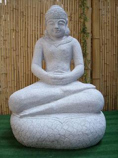 Steinfigur Buddha, sitzend, Figur aus Granit