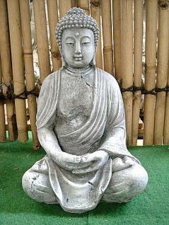 Steinfigur Buddha Figur für Feng Shui Bonsai Gartenteich