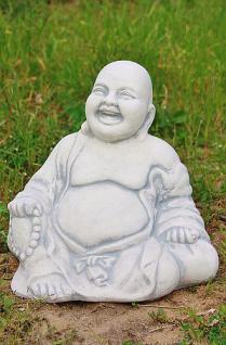 Steinfigur Buddha, Figur aus Steinguss, frostfest