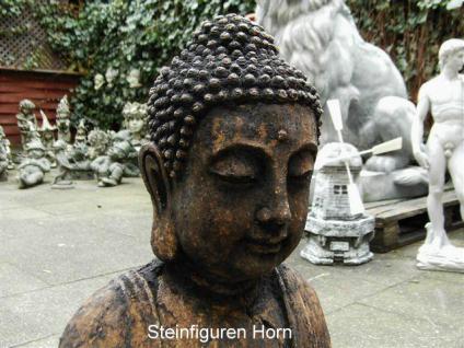 steinfigur buddha aus steinguss antik gearbeitet frostfest. Black Bedroom Furniture Sets. Home Design Ideas