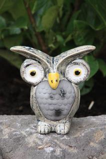 Eule aus Keramik, Figur für Eulen Liebhaber zum Verschenken