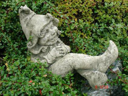 Steinfigur Wichtel/ Gnom für Garten & Terrasse