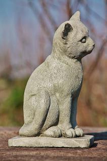 Steinfigur Katze, Figur aus Steinguss Katzen - Vorschau 2