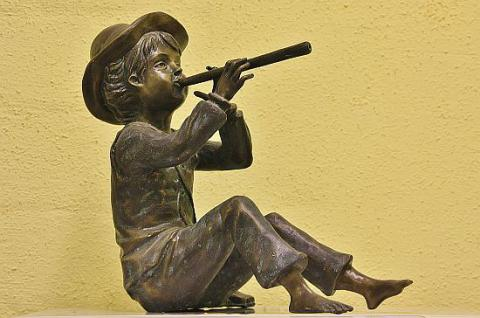 Bronzefigur Toni, Wasserspeier, Figur aus Bronze
