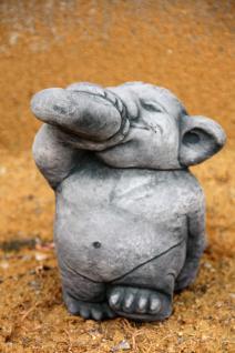 Steinfigur Troll mit Rumflasche, Figur aus Steinguss