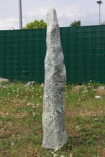 Steinfigur Naturstein Stele, 157 cm hoch, Säule, Monolith